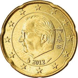 [#765884] Belgique, 20 Euro Cent, 2012, SUP, Laiton, KM:278