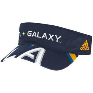 LA Galaxy MLS Adidas Adjustable Visor Hat, Navy