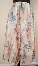 Aryn K. Asymmetrical Hem 100% Silk Skirt Size XSmall