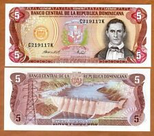Dominican Republic, 5 Pesos Oro, 1988,  P-118c, UNC > Obsolete Denomination