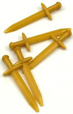 Lego 5 New Pearl Gold Minifigure Weapon Sword Greatsword Pointed Thin Pieces