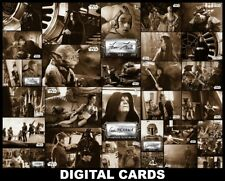 Topps Star Wars Trader ROTJ Black & White Wave 2 ORANGE BASE + SIGNATURE 32 CARD