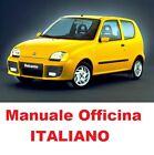 FIAT SEICENTO 600 Prima 1 E Seconda 2 Serie 1998/2005 Manuale Officina ITALIANO