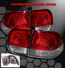 96 97 98 HONDA CIVIC SEDAN 4DR ALTEZZA TAIL BRAKE LIGHTS JDM RED/CLEAR DX EX LX