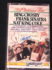 It's Christmas Time Cassette Tape Bing Crosby Sinatra Nat King Cole Holiday Xmas