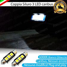 2X LED TARGA C5W 3 LED AUDI A3 8P CANBUS 6000K BIANCO GHIACCIO NESSUN ERRORE