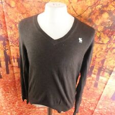 """Abercrombie & Fitch 100% cotton brown Jumper. 21"""" pit-to-pit, 26"""" length, Large"""