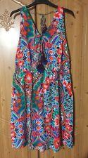 NEW TAGGED NEXT Floral Summer Dress Size 18 Beachwear Tassels Flowy Thin RRP £25