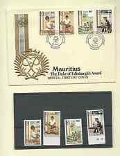MAURITIUS DUKE EDINBURGH AWARD 1981 SC 533-36 MNH SET & OFFICIAL FDC