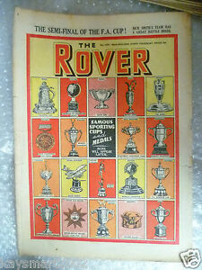 THE ROVER Comic, No.1291, 25th March 1950-Famous Sporting Cup & Medals