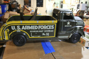 Vintage LUMAR US ARMED FORCES SEARCHLIGHT DIVISION NO 54 Toy Truck