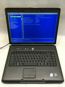 """DELL Vostro 1500 15.4"""" Laptop Boots to BIOS NO HDD/Charger JR"""