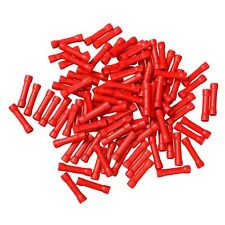 Red 22-18 Gauge 100PCS Wire Butt Connectors AWG Ga Car Radio Terminals