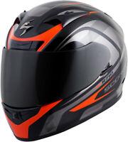 Scorpion EXO-R710 Focus Motorcycle Full Face Helmet Black / Red - Large LG