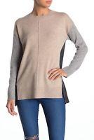 Catherine Malandrino Women Size Medium Colorblock Cashmere Sweater Pullover NEW