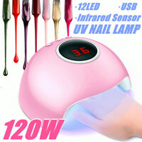 Nail Lamp 120W LED UV Light Gel Polish Nail Dryer Manicure Curing Salon Machine
