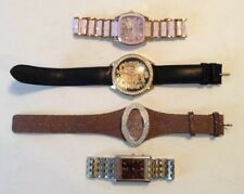 Vintage Quartz Wrist Watch Lot-4 Watches Oniss Guess Citizen Croton