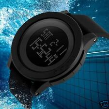 Fashion Black Mens Rubber Band Digital Army Military Quartz Sport Wrist watch H
