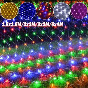 1.5x1.5/2x2/3x2/6x4M Christmas Net Light Outdoor LED Net Mesh String Light Party