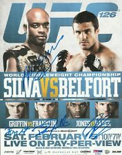 ANDERSON SILVA SIGNED AUTO'D MINI POSTER PSA/DNA COA UFC 126 FORREST FRANKLIN +1