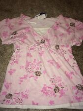 Girls Short Sleeve Shirt Top Size S Small