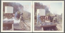 Vintage Photos Conductor Man w/ Scale Railroad Mini Train on Tracks  720930