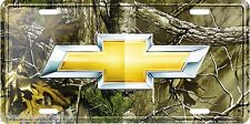 """Chevrolet Chevy Bowtie RealTree Camo 12"""" x 6"""" Embossed Metal License Plate Tag"""