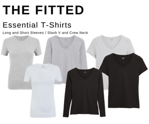 Ex-M&S Crew / V-Neck / Slash Long & Short Sleeved shirt top 'The Fitted'