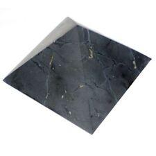 "BEST!! Unpolished Shungite Pyramid 70x70mm (2.76""x2.76"") Schungite  RUSSIA"