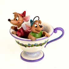 """Disney Traditions by Jim Shore """"Cinderella� Jaq and Gus Teacup Stone Resin"""