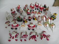 33 Piece Lot of Santa Claus Christmas Ornaments