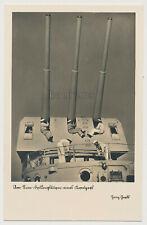 Foto/AK Kriegsmarine Am 15cm Drillingsturm  navy (841x)