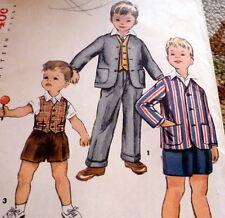 *LOVELY VTG 1950s BOYS JACKET, VEST, & PANTS Sewing Pattern 6