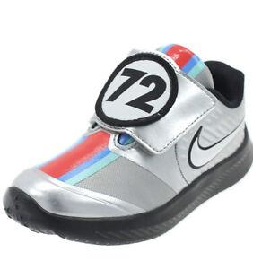 "Nike Star Runner 2 Auto TDV ""Metallic Silver"" Toddler Size 4"