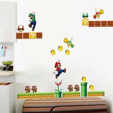 Super Mario Giant Removable Wall Decor Vinyl Decal Stickers Nursery Kids Art AU