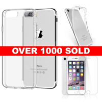 NEW iPhone 7 , 8 Clear Gel Case Cover And Tempered Glass Screen Guard Protector