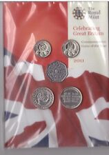 UK UNITED KINGDOM – 12 DIF BU COINS SET: 0.01 - 5 POUND 2011 YEAR MINT PACK