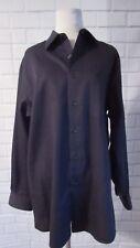 Van Heusen Men's Black Wrinkle Free Long Sleeve Button Up Shirt Sz L 16 32/33
