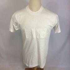 Nos Minty Vintage White 80s 90s River Resort Canoe Kayak Blank Plain T Shirt L