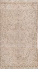Muted Semi Antique Handmade Distressed Traditional Evenly Low Pile Area Rug 5x8