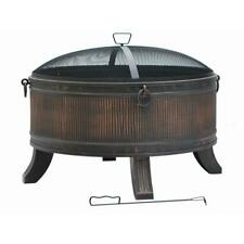 Fire Pit Round Steel Emberjack Outdoor Heating Durable Weather-resistant 36 in