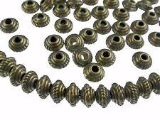 100 métal perles spacer 4,5x3mm antique en laiton couleur perles Nenad-Design an453