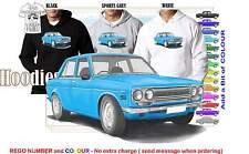 69 DATSUN 1600 SEDAN HOODIE ILLUSTRATED CLASSIC RETRO MUSCLE CAR