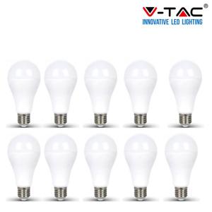 10 LAMPADINE LED V-Tac Bulbo E27 da 17W 100W Lampade Luce Calda Naturale Fredda