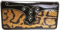 American West Women's Limited Edition Brown Leather Clutch Wallet Purse NWT $78
