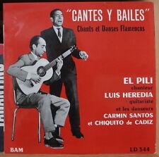 """EL PILI/LUIS HEREDIA/CARMIN SANTOS """"CANTES Y BAILES"""" 25cm FRENCH LP"""