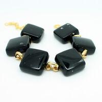 Murano Glass Bracelet Beautiful Black Gold from Venice