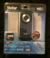 Vivitar DVR 690HD 8 MB All Weather Camcorder With Camera MSRP $59.99