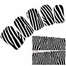 Tattoo Nail Art Aufkleber Glitzer Muster Sticker Zebra Water Decall Neu!