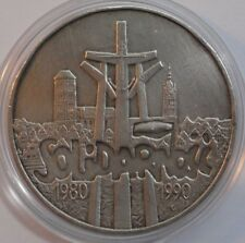 100000 ZLOTIES  POLAND 1990 10 YEARS OF SOLIDARITY SILVER 1 Oz